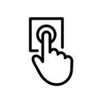 door bell icon. Hand